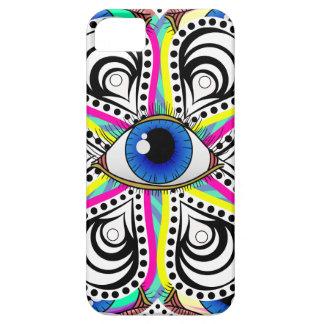 Abstrakt Illuminati ögablomma iPhone 5 Cover