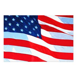 Abstrakt Impressionism för amerikanska flaggan Fototryck