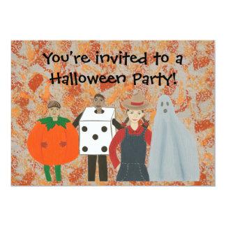 Abstrakt inbjudningar för Halloween dräktparty