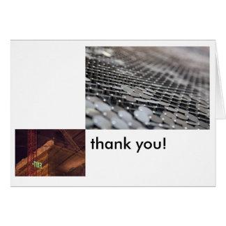 Abstrakt industriellt tack hälsningskort