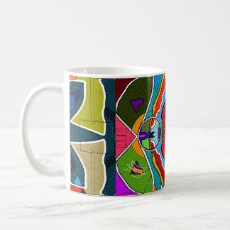 Abstrakt Jazzy rolig mugg Kaffemugg