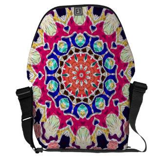Abstrakt KaleidoscopeMandala för multifärgad Messenger Bag