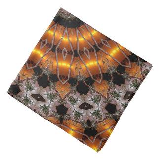 Abstrakt koncentriskt mönster för brunt och för bandana
