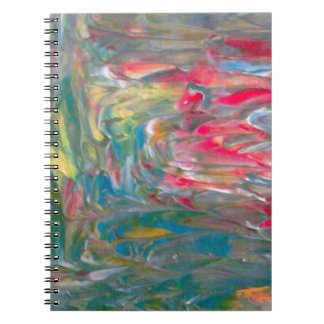 Abstrakt konst anteckningsbok med spiral