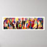 Abstrakt konst av Sonia Delaunay - TangoBal Bullie Affischer