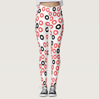 Abstrakt konst cirklar designdamasker leggings