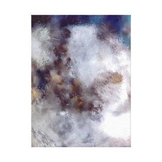 """Abstrakt konst """"den valfria svallvågen"""" canvastryck"""