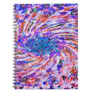 Abstrakt konst färgade trianglar anteckningsbok med spiral