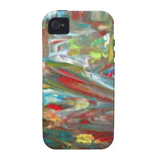 Abstrakt konst iPhone 4 fodral