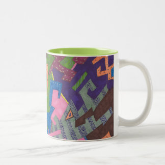 """Abstrakt konst """"för djurliv"""" Två-Tonad mugg"""