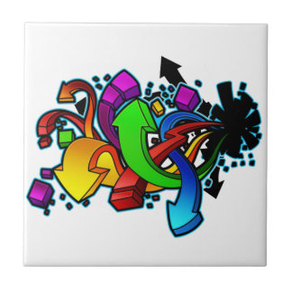 Abstrakt konst för grafitti kakelplatta