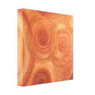Abstrakt konst för orange och för guld canvastryck