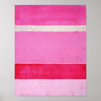 """Abstrakt konst """"för Pitaya"""" rosor Poster"""