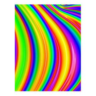 Abstrakt konst för regnbåge 3D Vykort