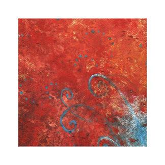 Abstrakt konst för vägg för konstkanfas canvastryck
