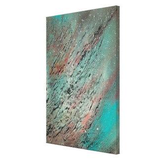 Abstrakt konst - förlorade och grundar canvastryck