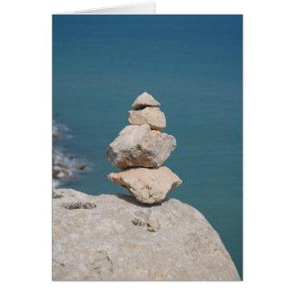 Abstrakt konst från den medelhavs- fransken OBS kort