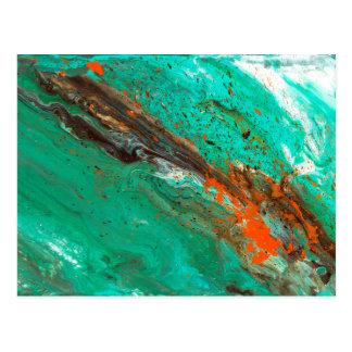 Abstrakt konst - frodig jord vykort