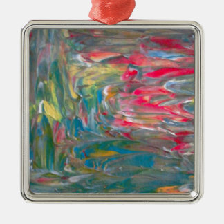 Abstrakt konst julgransprydnad metall
