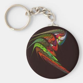 Abstrakt konst Keychain för kameleont Rund Nyckelring