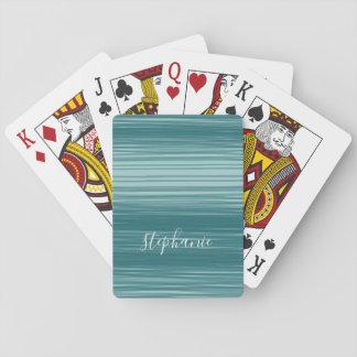 Abstrakt konst med modernt skrivar namn spel kort