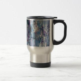 Abstrakt konst rostfritt stål resemugg