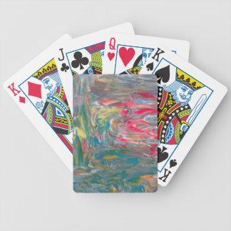 Abstrakt konst spelkort
