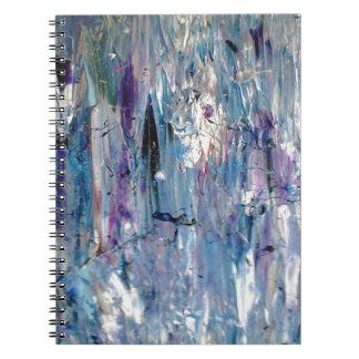 Abstrakt konst spiral anteckningsbok