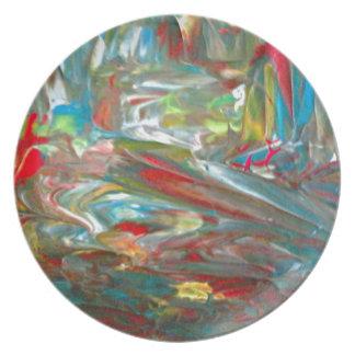 Abstrakt konst dinner plate