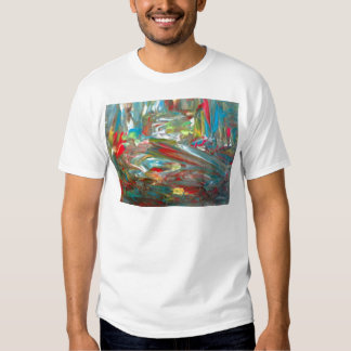 Abstrakt konst tshirts