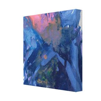 Abstrakt konst - väggkonst - blåttrosalilor canvastryck