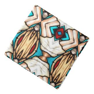 Abstrakt konstbakgrund för målat glass bandana