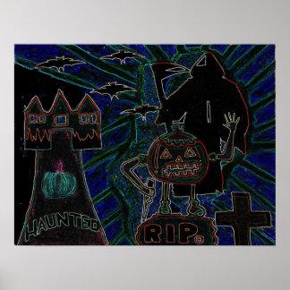 Abstrakt konster för Halloween ungar Posters