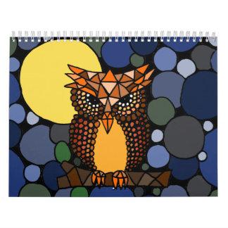 Abstrakt konstkalender för fantastisk kalender