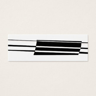 Abstrakt konstnärliga art décosvart & vit litet visitkort