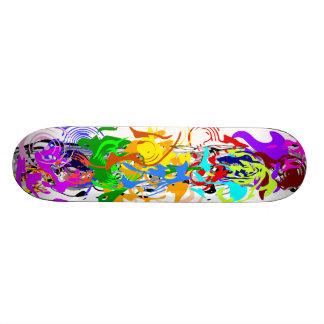 Abstrakt konstSkateboard Old School Skateboard Bräda 18 Cm