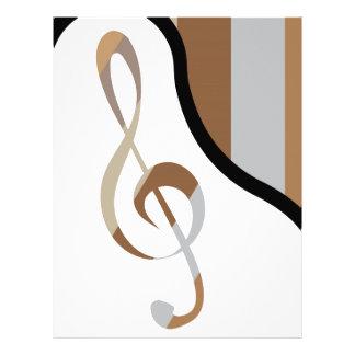 Abstrakt konstverk för piano brevhuvud