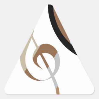Abstrakt konstverk för piano triangelformat klistermärke