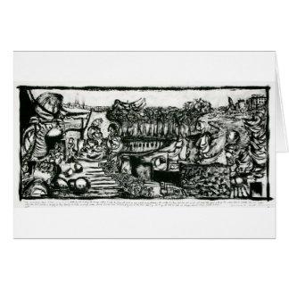 Abstrakt konstverk vid Russell Scott-Skinner Hälsningskort