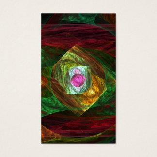 Abstrakt konstvisitkort för dynamiska anslutningar visitkort