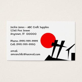 Abstrakt kort för visitkortar för staket för