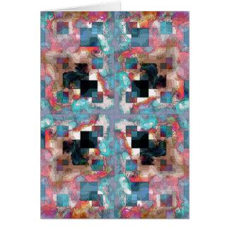 Abstrakt kvadrerar lagrar hälsningskort