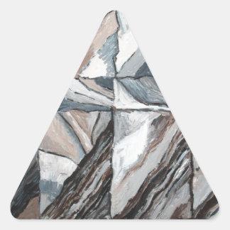 Abstrakt Landscape som återställer sig Triangelformat Klistermärke