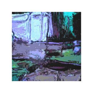 Abstrakt landskap i lila och deppighet canvastryck