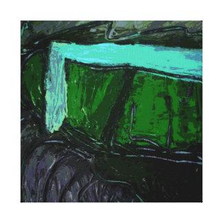 Abstrakt landskap i lila och deppighet II Canvastryck