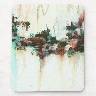 Abstrakt landskap konst som målar röd krickabrunt mus matta