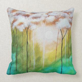 Abstrakt landskap träd för smalan för kudde