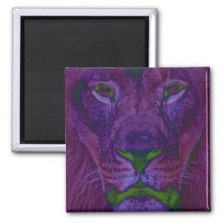 Abstrakt lejon magnet