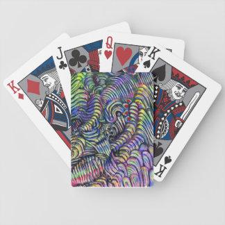 """Abstrakt leka kort """"för undervattens- flöde"""" spelkort"""