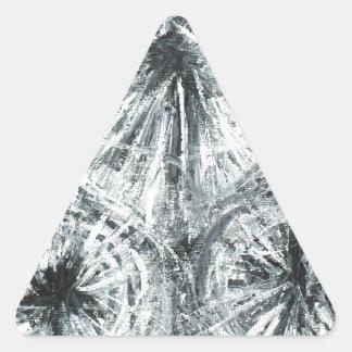 Abstrakt ljuskrona (abstrakt expressionism) triangelformat klistermärke